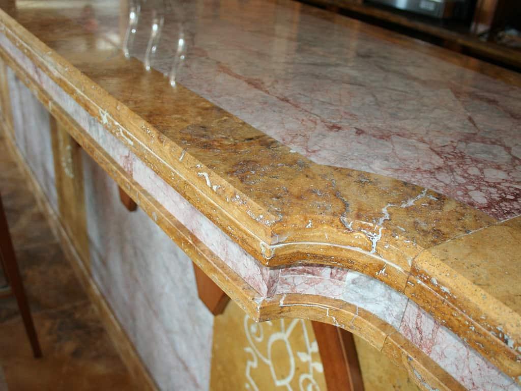 barra bar travertino mármol